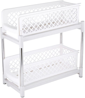 Liying Plastic Drawer Basket Accessories Storage, White