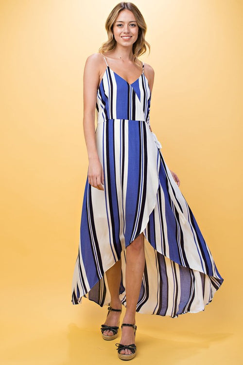 Blayke Striped Maxi Dress - Blue