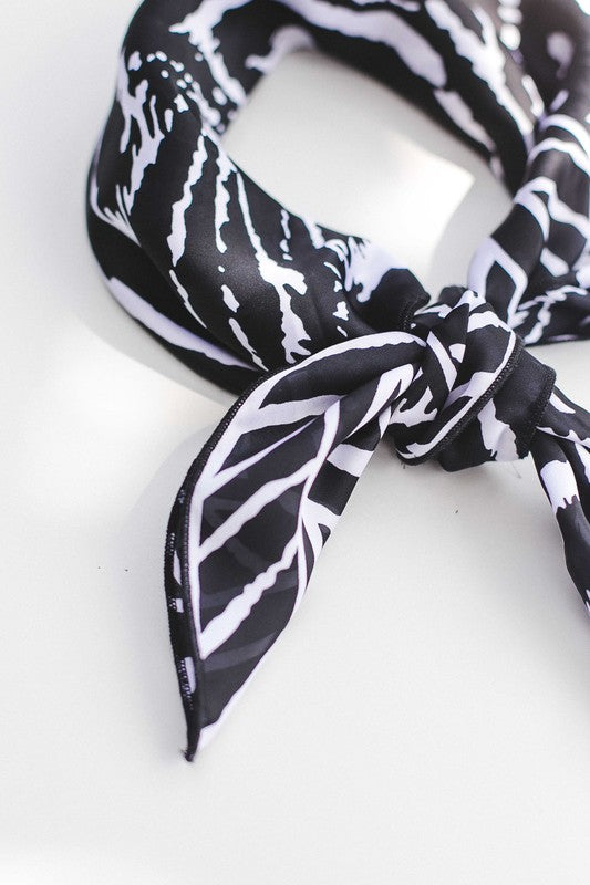Black & White Satin Bandana