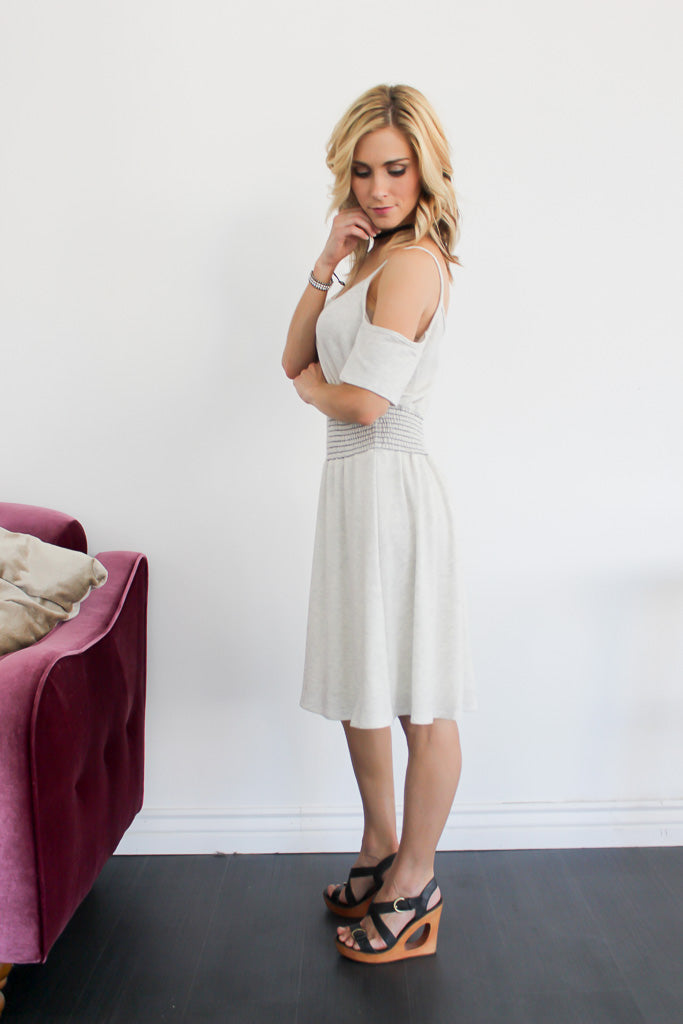 Jessa Heather Gray Terry Dress