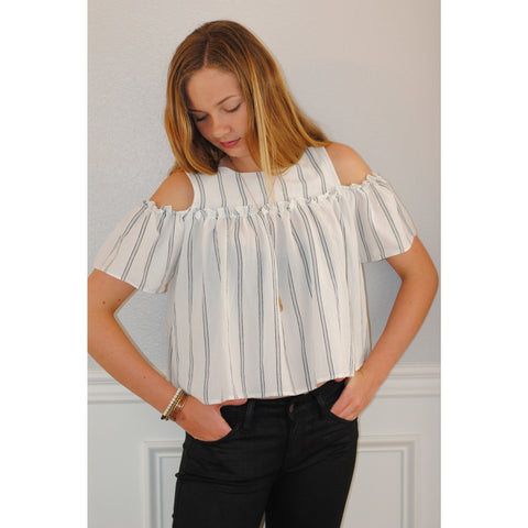 Ally Bell Sleeve Cold Shoulder Top