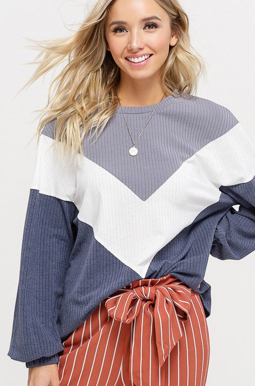 Chevron Ribbed Knit