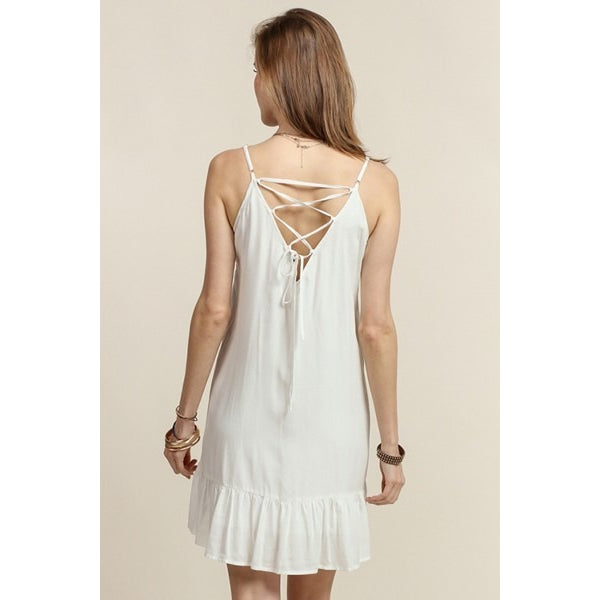 Malia Embroidered Tank Dress
