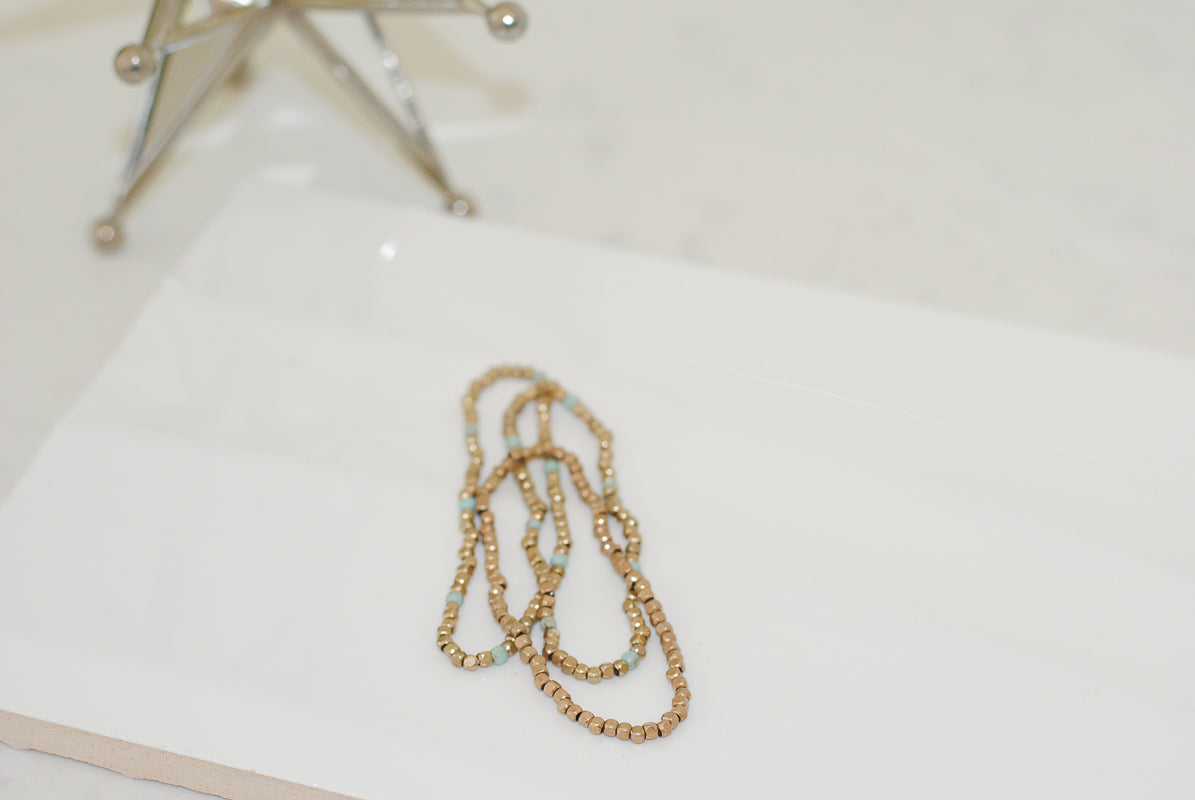 Gold Bead Stack- 2 colors