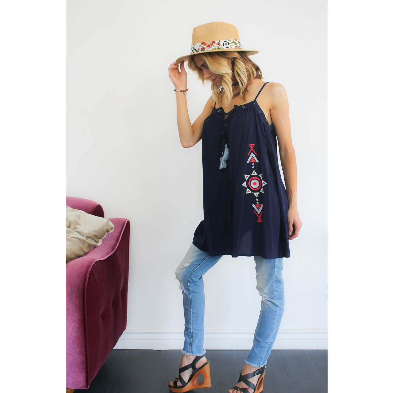 Hermosa Lace Up Tunic