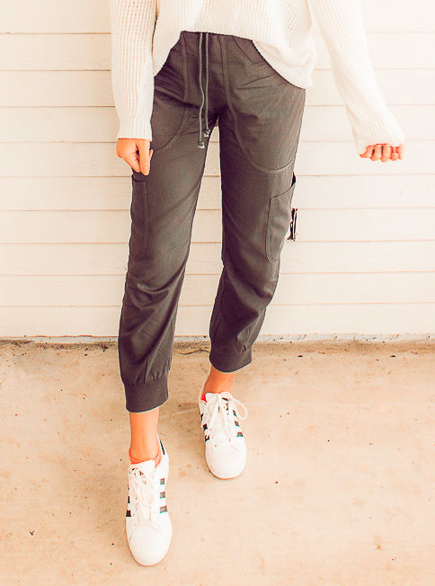 Camille Charcoal Joggers