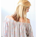 Cream Knotted Sleeve Top