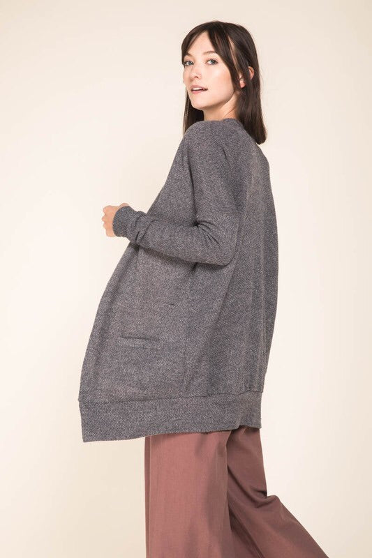 Gray Skies Knit Cardigan