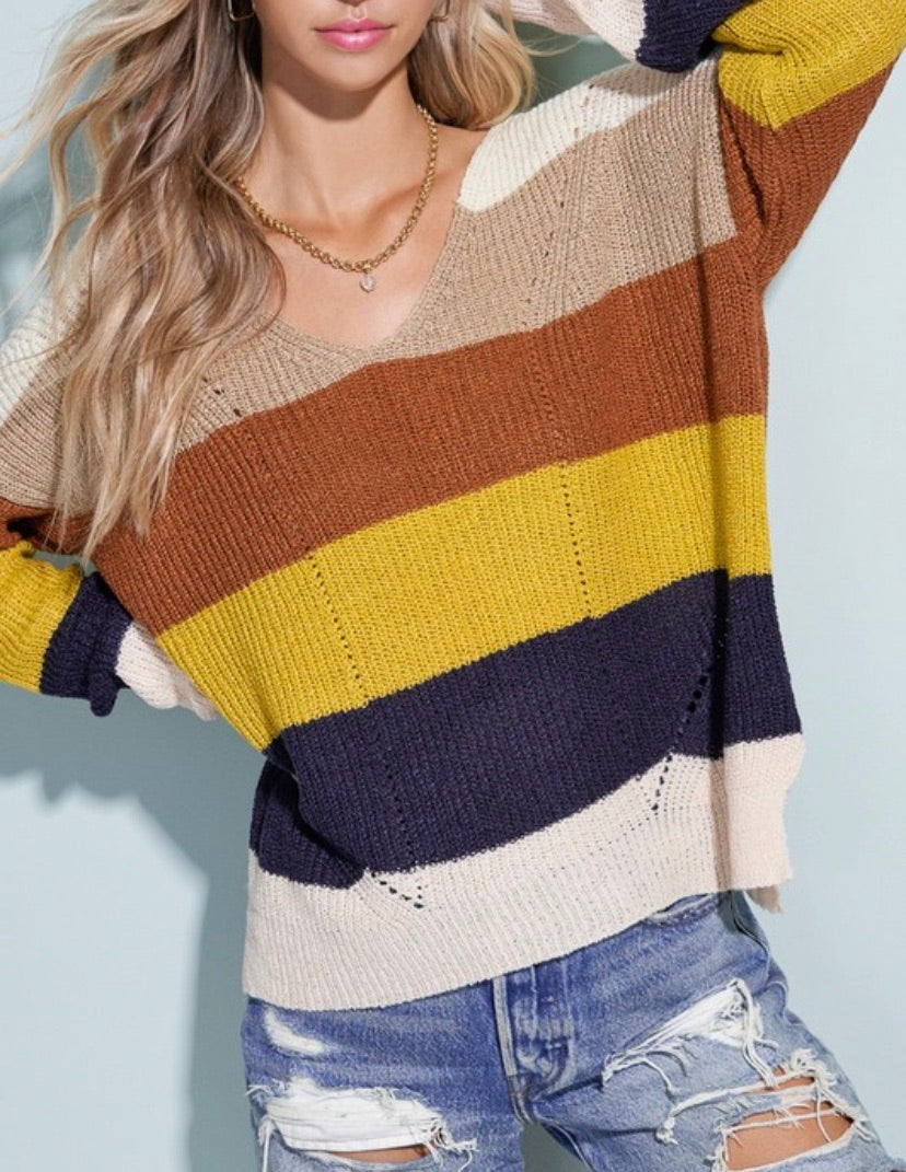 Elle Striped Sweater