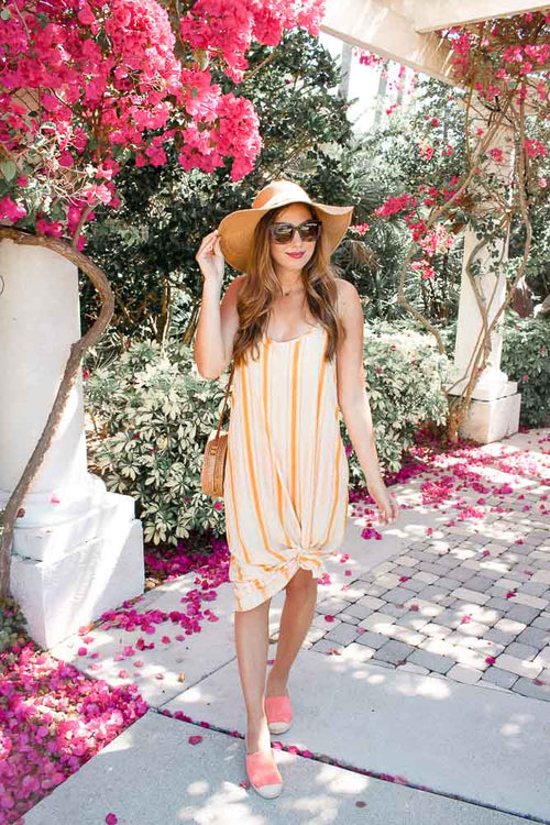 Addyson Striped Maxi - Mustard