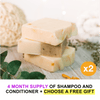 Shampoo & Conditioner Bar Pack With Free Gift: Reduce Your Carbon Footprint