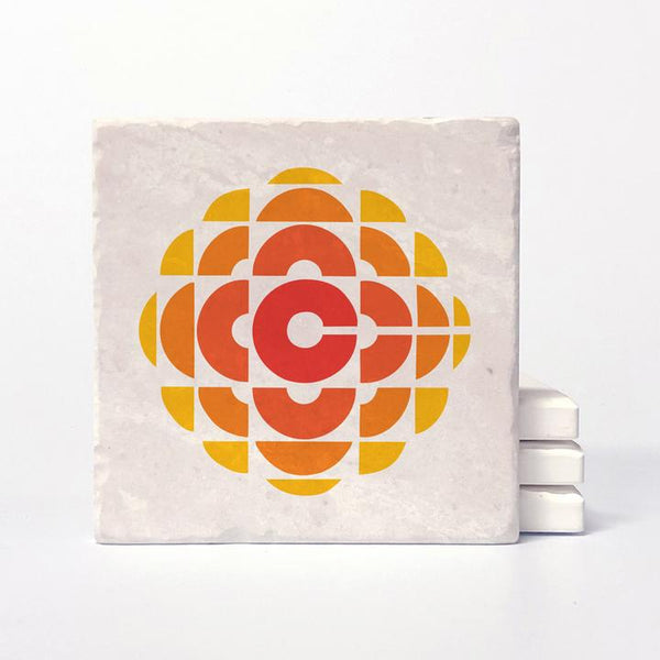 CBC RETRO GEM 1974 - 1986 LOGO COASTER