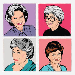 GOLDEN GIRLS COASTER SET