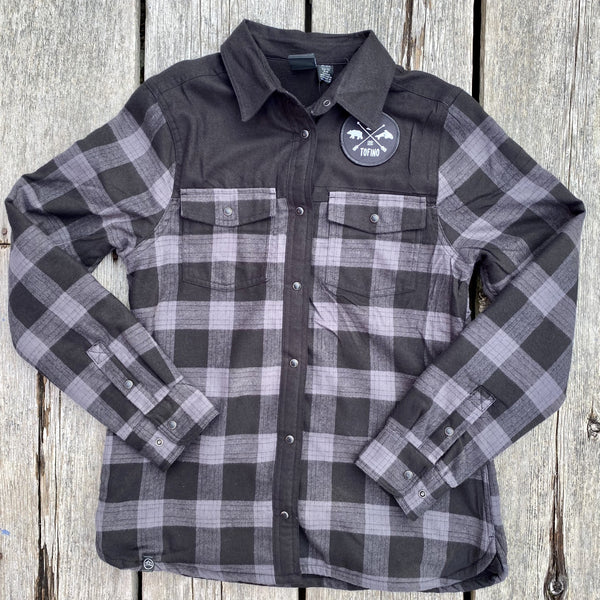WOMEN'S THERMAL SHIRT - BLACK PLAID