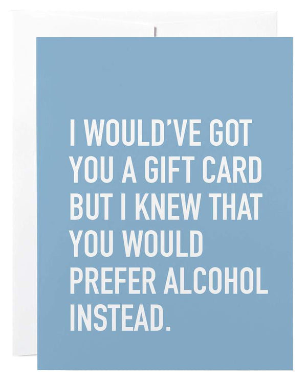 PREFER ALCOHOL CARD