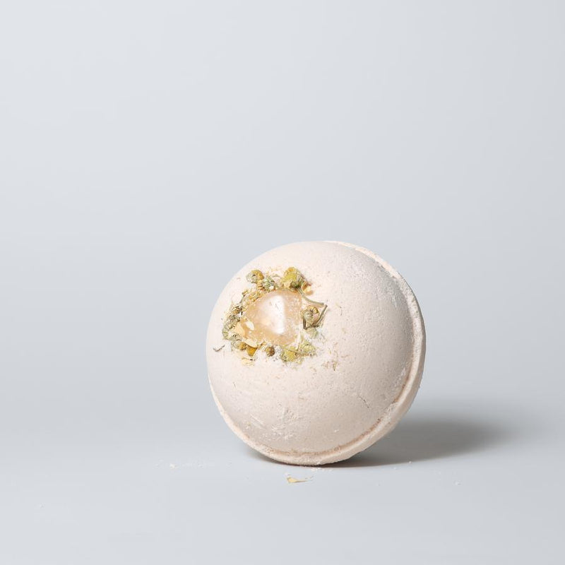 CITRINE + ORANGE CHAMOMILE BATH BOMB