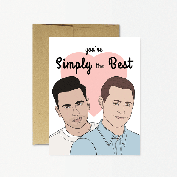 "SCHITT'S CREEK ""SIMPLY THE BEST"" - CARD"