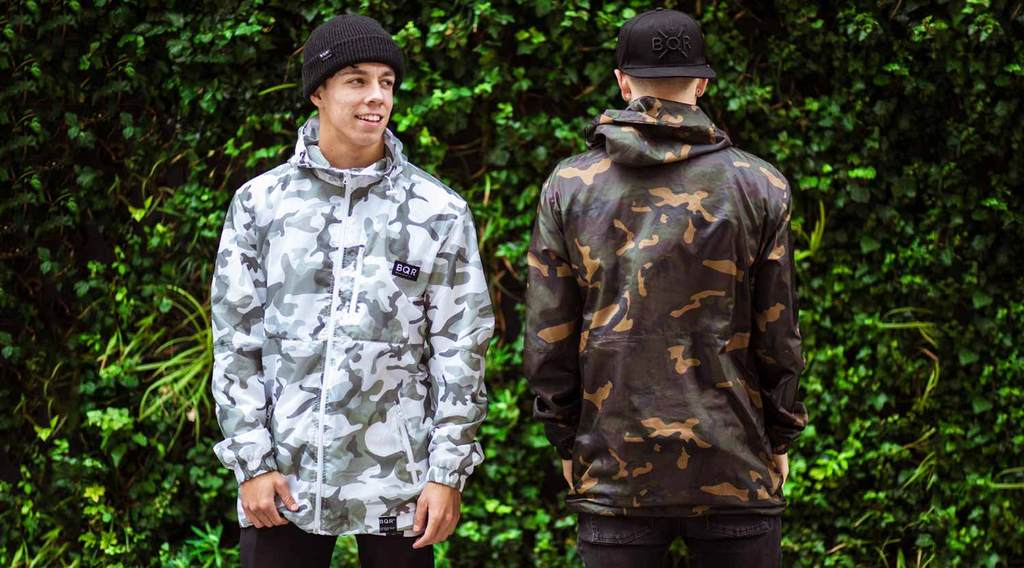 BQR Camo Windbreakers White and Green
