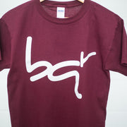 bqr youth tee burgundy