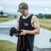 boqer wearing bqr pocket vest black