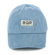 Distressed Denim Dad Hat Blue