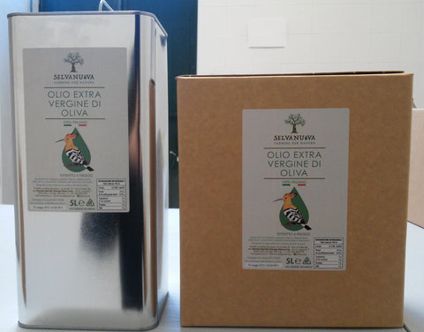 Selvanuova extra virgin olive oil 5 litre can and bag-in-box