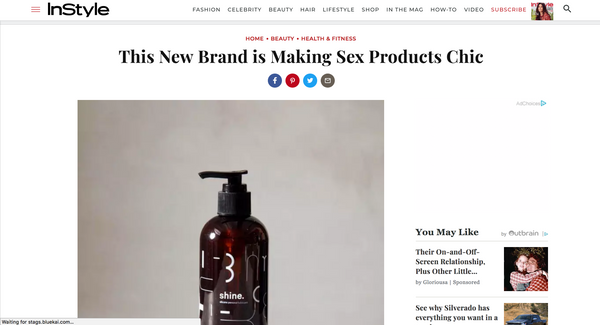 """This New Brand is Making Sex Products Chic"""