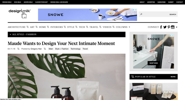 """Maude Wants to Design Your Next Intimate Moment"""