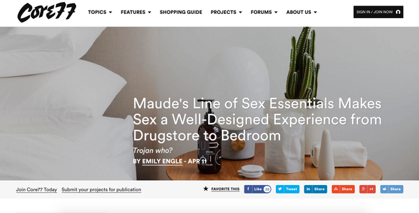 """Maude's Line of Sex Essentials Makes Sex a Well-Designed Experience from Drugstore to Bedroom"""