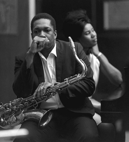 John Coltrane with Alice Coltrane.