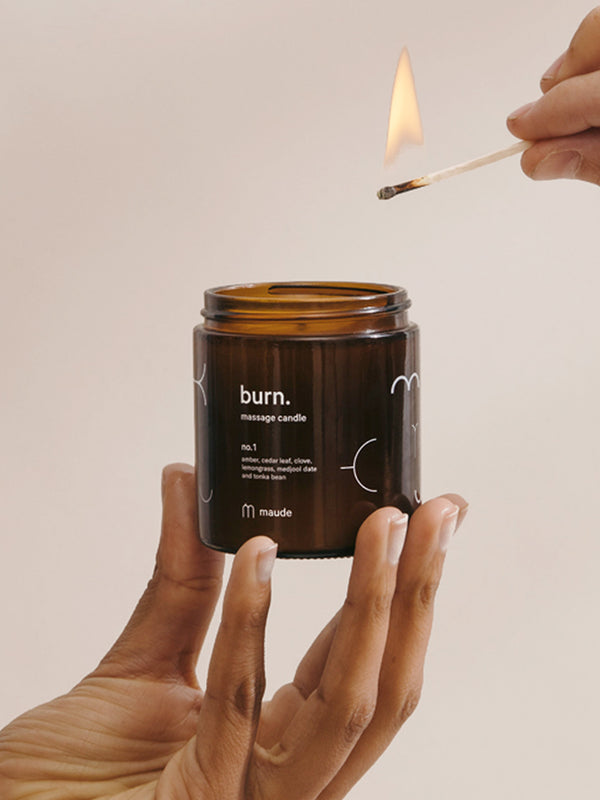 burn. - lightly scented, low melting point, moisturizing