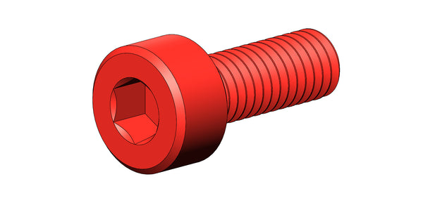 M3 SOCKET HEAD SCREW (RED ALUMINUM)