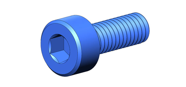 M3 SOCKET HEAD SCREW (BLUE ALUMINUM)