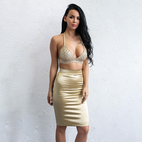 AMELIA TWO PIECE SET IN GOLD
