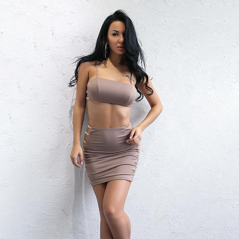PLAZA TWO PIECE SET IN NUDE