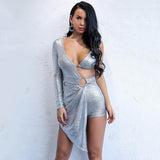 MISS MILLION PLAYSUIT IN SILVER