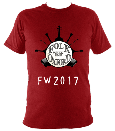 Folk Weekend T shirt (logo & date)