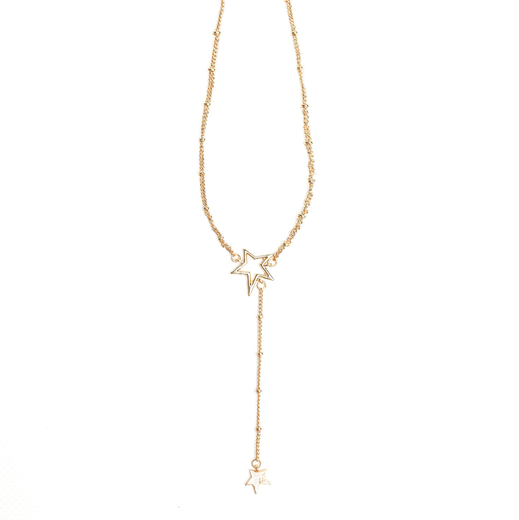 Double Star - Drop Necklace