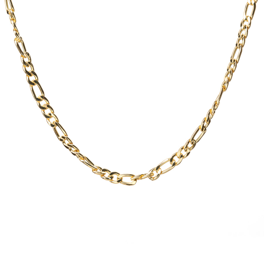 gold figaro necklace
