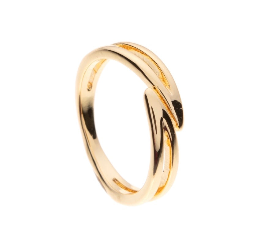Double Bend Gold Ring