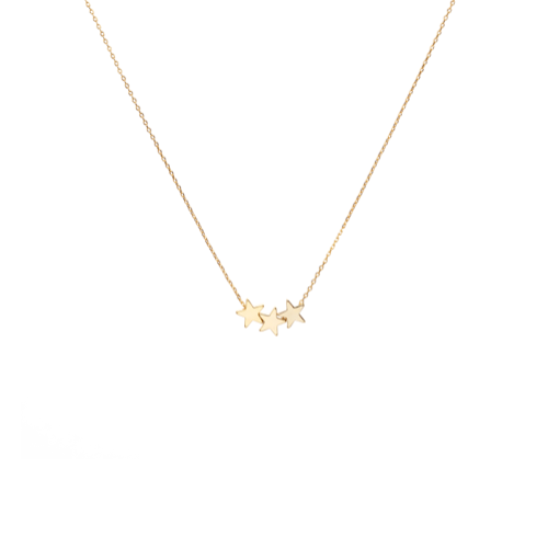Trio Star Charm Necklace