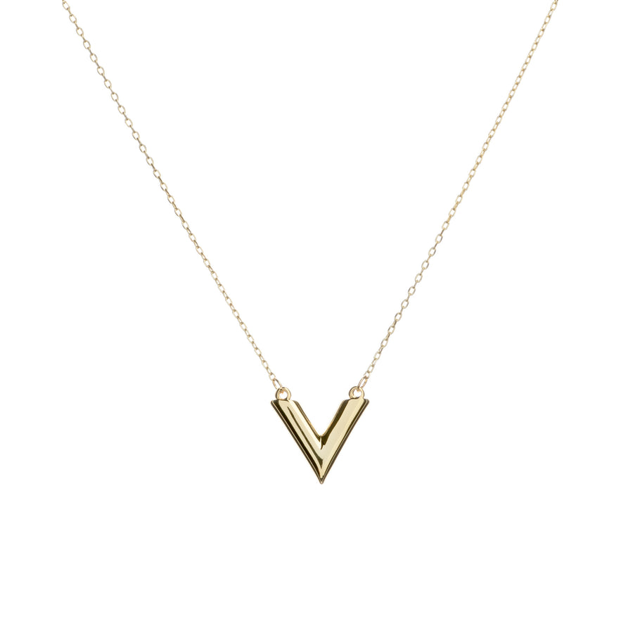 V-Shaped Cube Necklace
