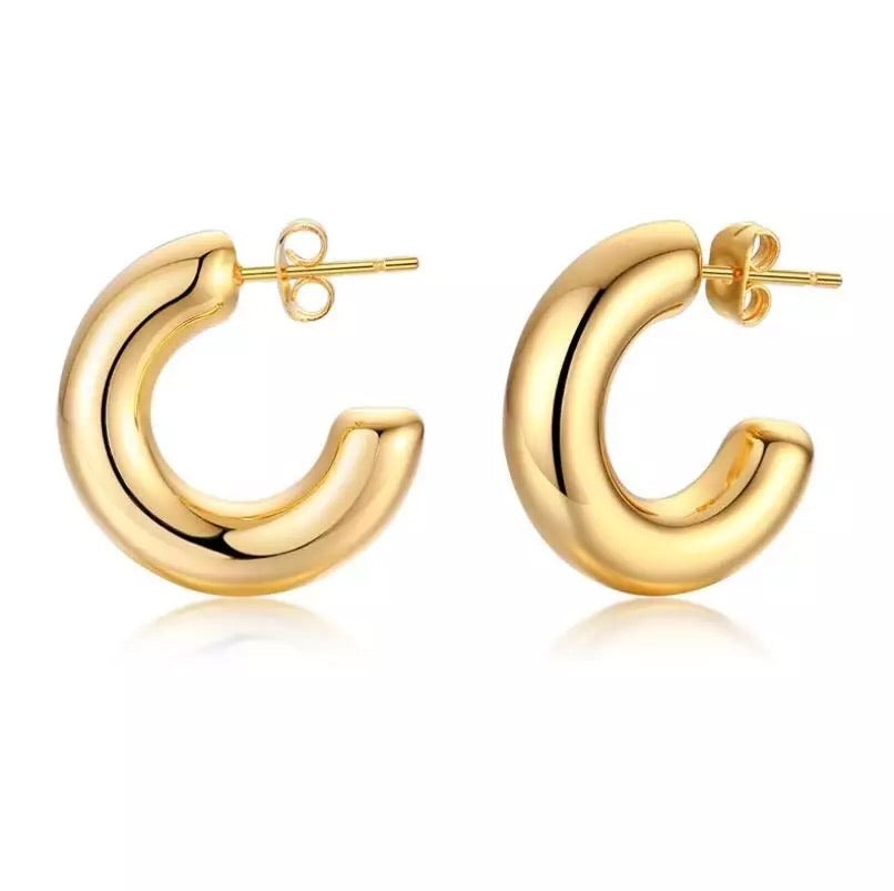 Small mini gold hoop earrings
