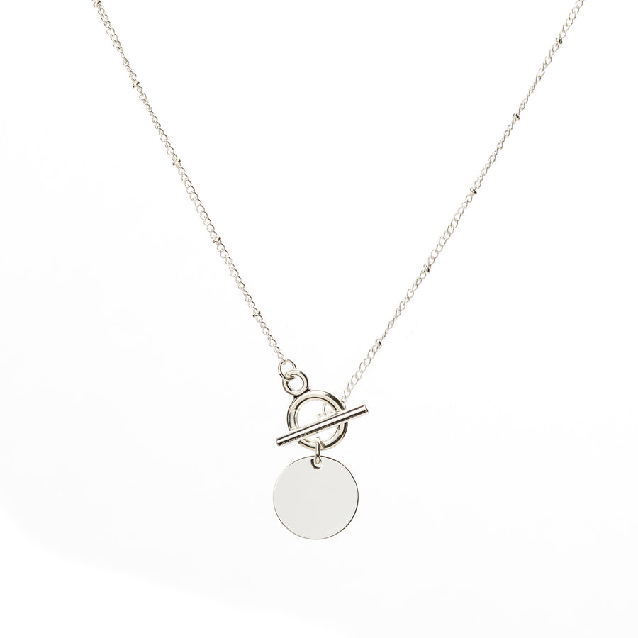 Toggle Disc Necklace - Silver