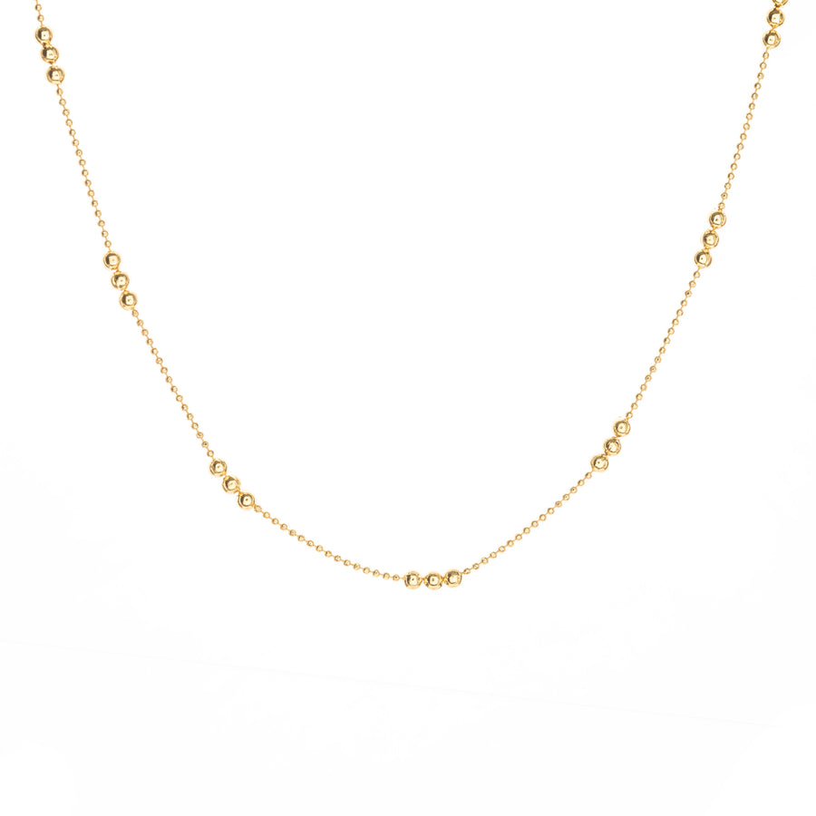 gold beaded ball chain