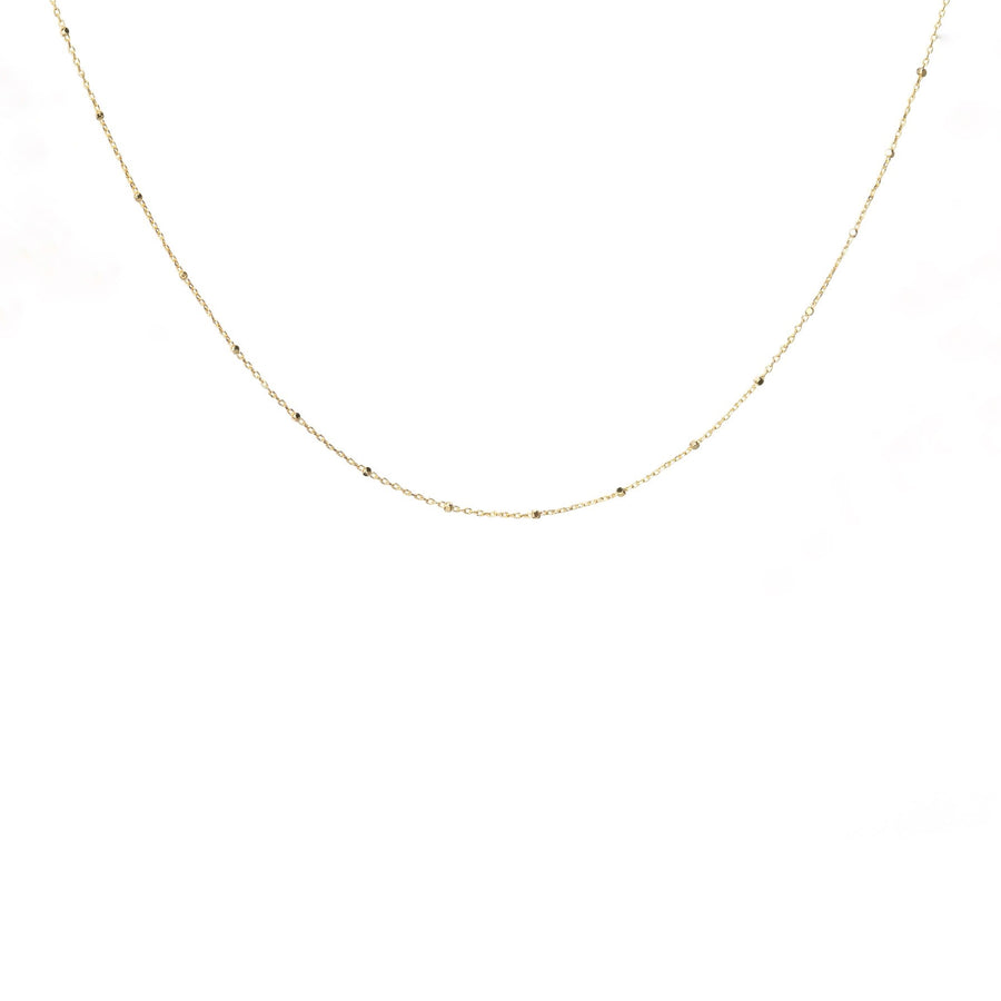 Thin Beaded Chain 14 inches
