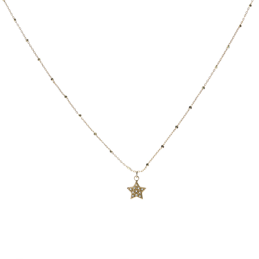 Diamante star necklace