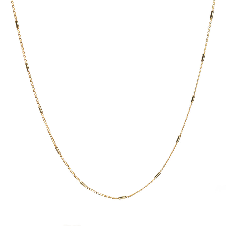Tube Link Necklace 14 inches