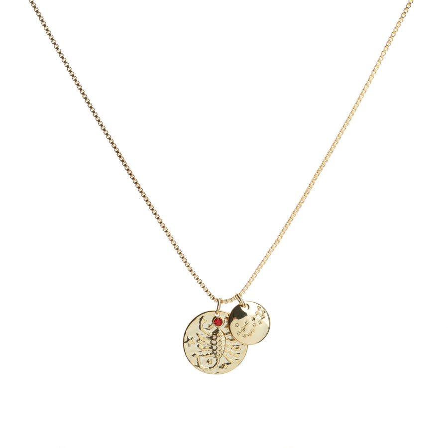 Scorpio star sign zodiac and constellation necklace