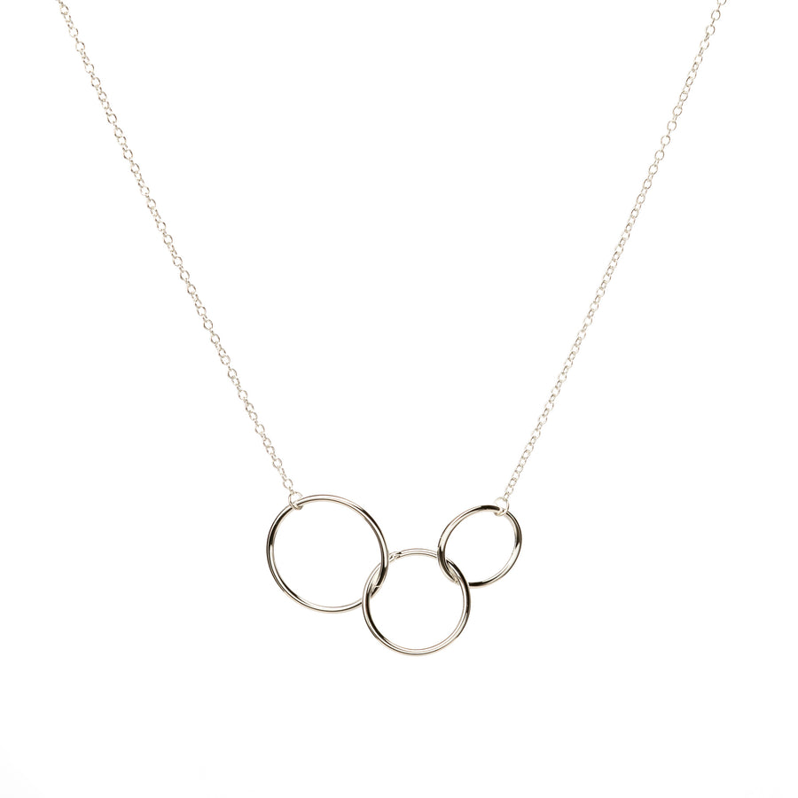Triple Circle Necklace Silver